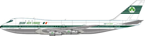 1/200 Scale Decal Aer Lingus 747-200
