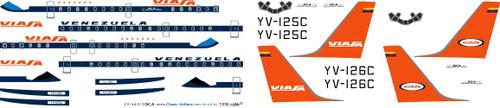 1/144 Scale Decal Viasa DC-8