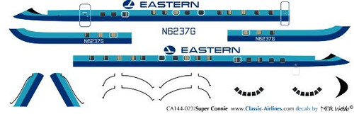 1/144 Scale Decal Eastern Super Constellation