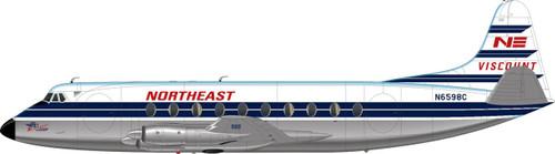 1/144 Scale Decal Northeast / British Airways Viscount 700