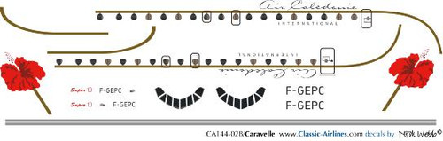 1/144 Scale Decal Air Caladonie Caravelle
