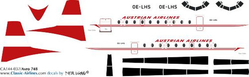 1/144 Scale Decal Austrian HS-748
