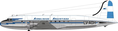 1/144 Scale Decal Aerlineas Argentinas DC-4