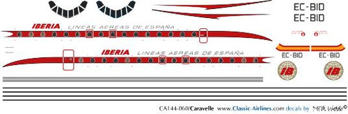 1/144 Scale Decal Iberia Caravelle Factory