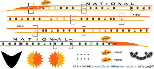 1/144 Scale Decal National DC-8