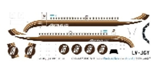 1/144 Scale Decal Austral BAC-111 Brown