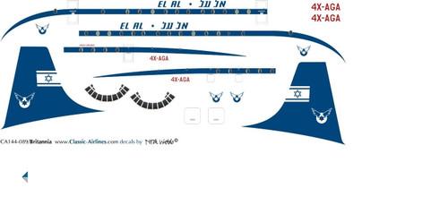 1/144 Scale Decal El Al Britannia