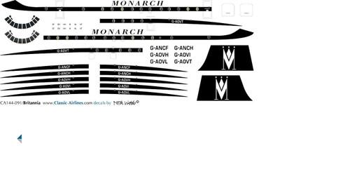 1/144 Scale Decal Monarch Britannia