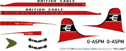 1/144 Scale Decal British Eagle DC-4