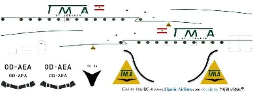 1/144 Scale Decal TMA DC-4 OD-AEA
