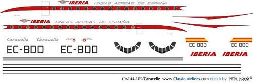 1/144 Scale Decal Iberia Caravelle EC-BDD