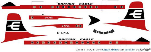 1/144 Scale Decal British Eagle DC-6