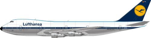 1/144 Scale Decal Lufthansa 747-200