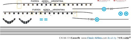 1/144 Scale Decal Argentine Air Force Caravelle