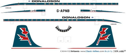1/144 Scale Decal Donaldson Britannia
