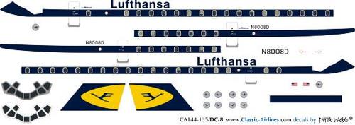 1/144 Scale Decal Lufthansa DC-8
