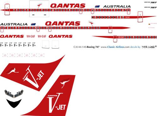 1/144 Scale Decal Qantas DC-4