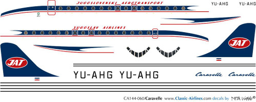 1/144 Scale Decal JAT Caravelle