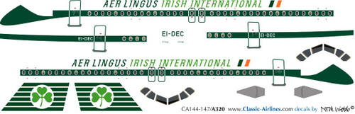 1/144 Scale Decal Aer Lingus A-320 Retro