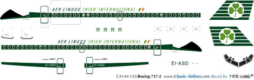 1/144 Scale Decal Aer Lingus 737-200 Delivery