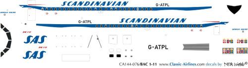 1/144 Scale Decal SAS BAC-111