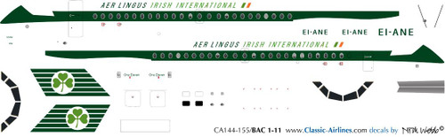 1/144 Scale Decal Aer Lingus BAC-111