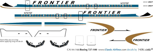 1/144 Scale Decal Frontier 727-100