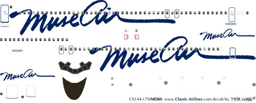 1/144 Scale Decal Muse Air MD-80