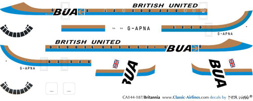 1/144 Scale Decal British United Britannia 302
