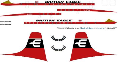 1/144 Scale Decal British Eagle Britannia
