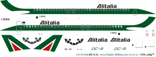 1/144 Scale Decal Alitalia DC9-30
