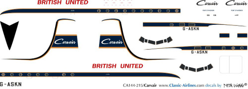 1/144 Scale Decal British United Carvair