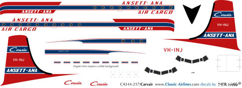 1/144 Scale Decal Ansett-ANA Carvair