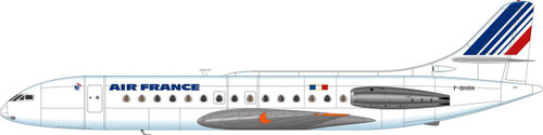 1/144 Scale Decal Air France Caravelle Full Barcode
