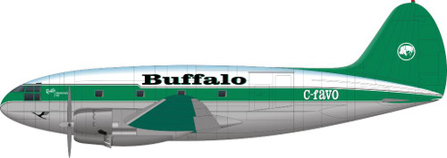 1/144 Scale Decal Buffalo C-46