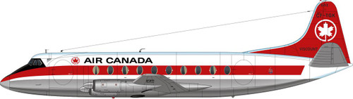 1/144 Scale Decal Air Canada Viscount 700