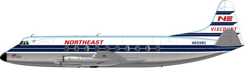 1/144 Scale Decal Northeast Viscount 700