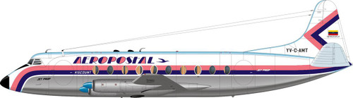 1/144 Scale Decal Aeropostal Viscount 700