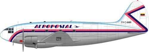 1/144 Scale Decal Aeropostal C-46