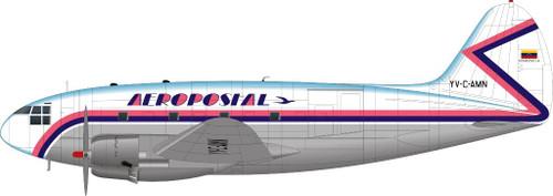 1/144 Scale Decal Aeropostal C-46