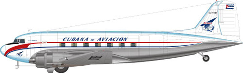 1/144 Scale Decal Cubana DC-3