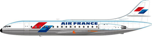 1/144 Scale Decal Air France Caravelle Excoffon