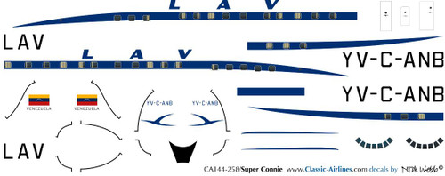 1/144 Scale Decal LAV - Aeropostal Super Constellation