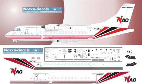 1/144 Scale Decal NAC ATR-42