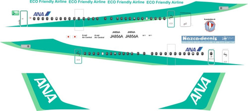 1/144 Scale Decal ANA Dash 8-400 Eco Friendly Livery