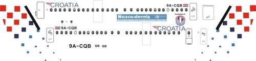 1/144 Scale Decal Croatia Dash 8-400