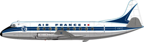 1/144 Scale Decal Air France Viscount 700 Later Livery