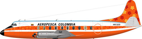 1/144 Scale Decal Aeropesca Columbia Viscount 700