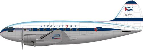 "1/144 Scale Decal Aerovias ""Q"" S.A. C-46"