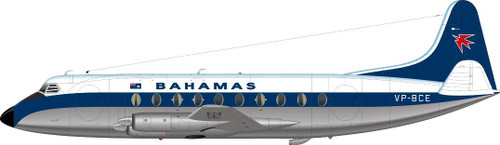 1/144 Scale Decal Bahamas Viscount 700